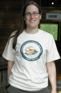 Sarah in Lamprey T-shirt