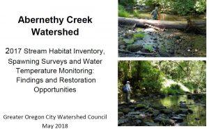 Permalink to:Abernethy Stream Survey